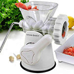 Kitchen Basics 3-In-1 Meat Grinder and Vegetable Grinder/Mincer, 3 Size Sausage Stuffer, Pasta Maker