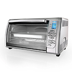 Black and Decker CTO6335S Digital Convection Countertop Toaster Oven, Stainless Steel