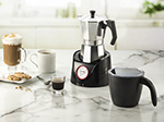 Gourmia GMF255 Espresso Coffee Pot & Milk Frother Combo