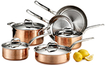 Lagostina Q554SA64 Martellata Tri-ply Hammered Stainless Steel