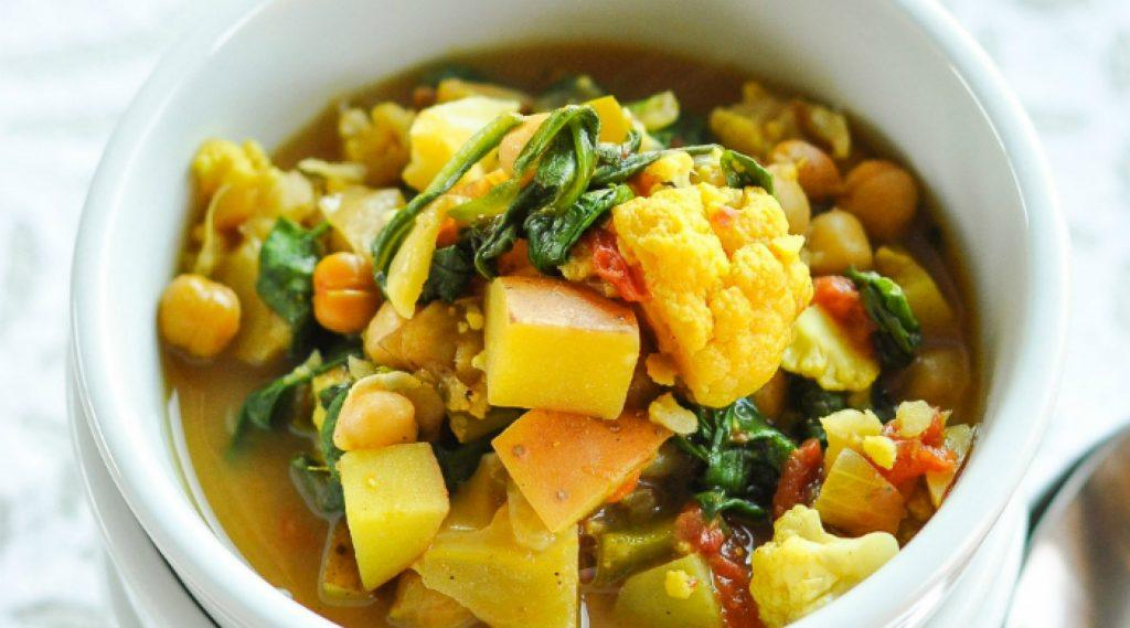 Curried Vegetable and Chickpea Stew via Splendid table