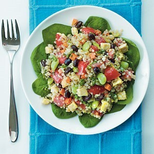 Green Quinoa Salad with Basil Dressing via Cooking Light