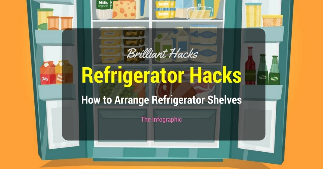 Refrigerator Hacks -How to Arrange Refrigerator Shelves