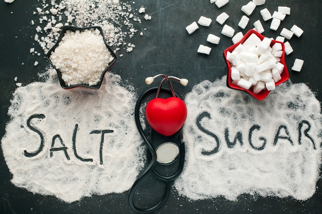 Sugar and salt