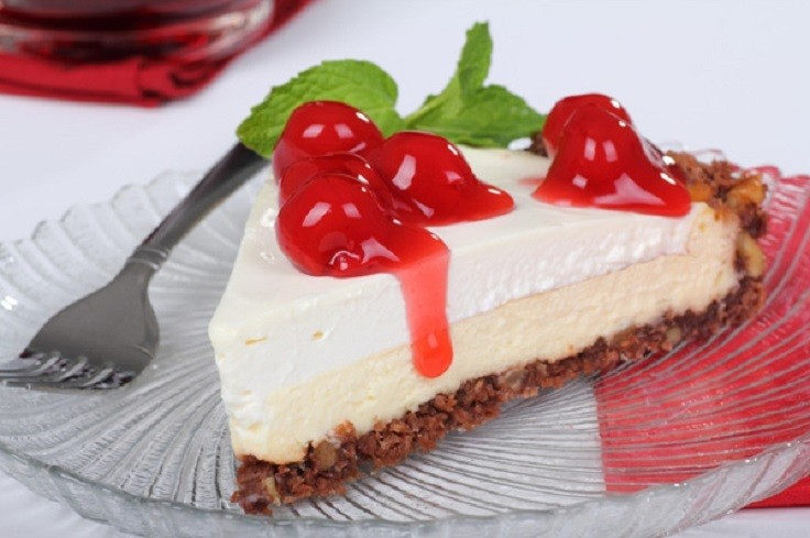 No Bake Cherry Cheesecake via TopInspired