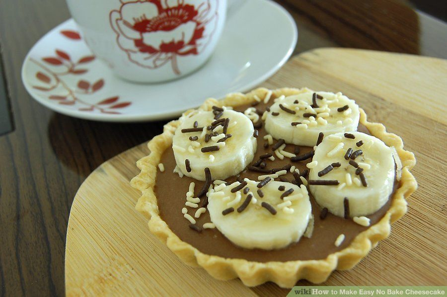 Chocolate No Bake Cheesecake via Wikihow