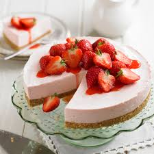 Strawberry Cheesecake via Woman and Home