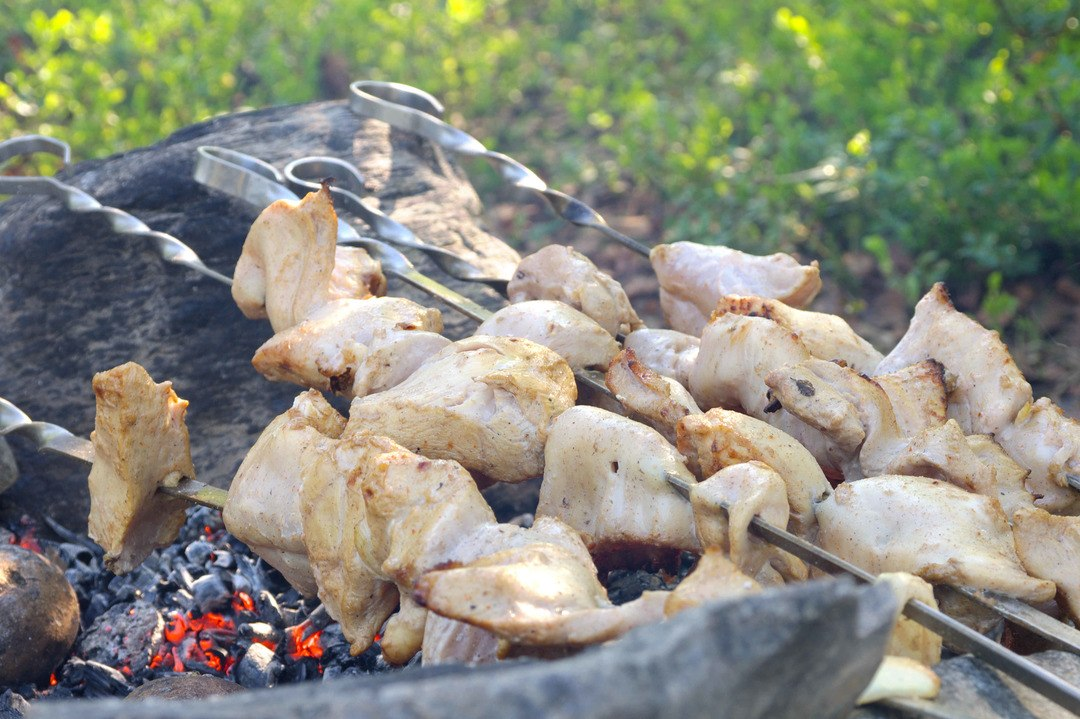 Chicken Oyster BBQ Style
