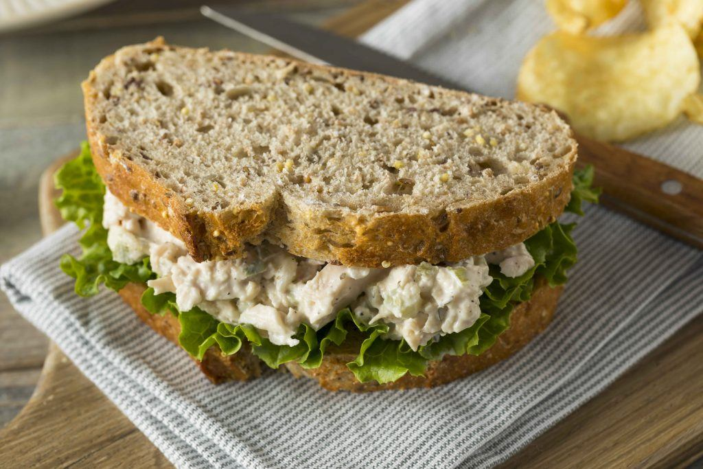 Bread with Chicken Salad